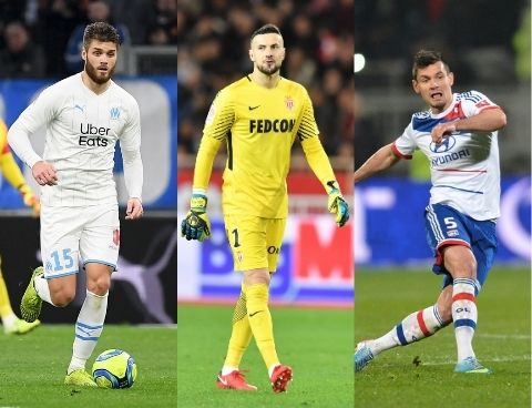 Caleta-Car (OM), Subasic (AS Monaco) et Lovren (OL)
